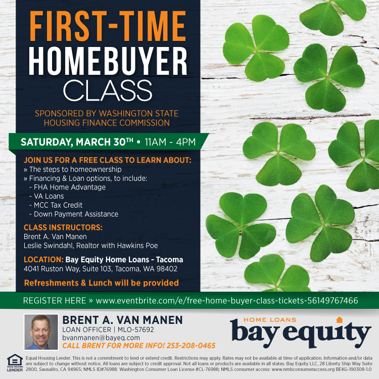 First Time Home Buyers Class March 30, 2019